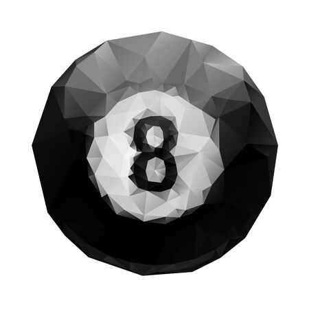 Abstract geometric polygonal 8 ball billiards for your design. Vector
