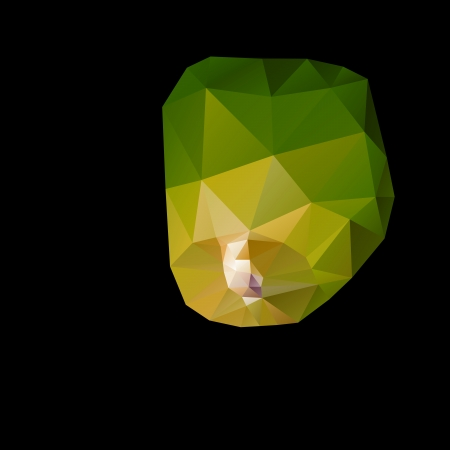 loy: Polygonal green sky lanterns in the night sky.