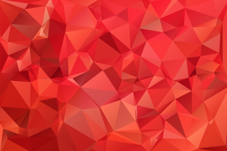 Red abstract background polygon. Geometric backdrop.
