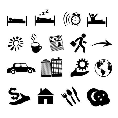 Concept of human life icons. EPS 8 Vector