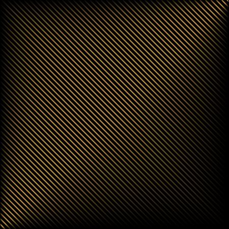 Simple black background in gold stripes Imagens - 24017649