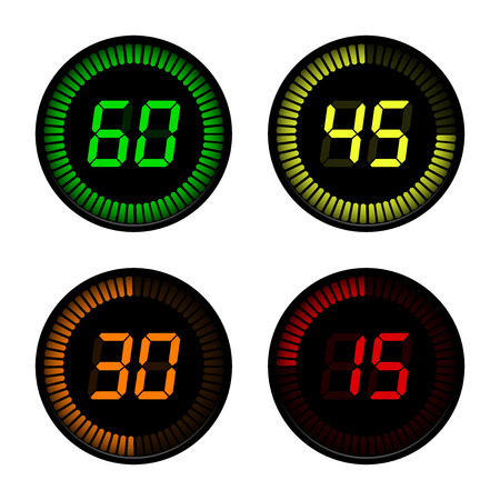 Digital Countdown Timer on white background Vector