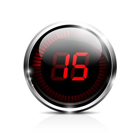 Electronic brilliant timer 15 seconds 版權商用圖片 - 24017669