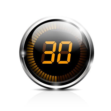 Elektronische brillante Timer 30 Sekunden Standard-Bild - 24017658