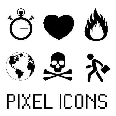 Pixel icon set. EPS 8 Vector
