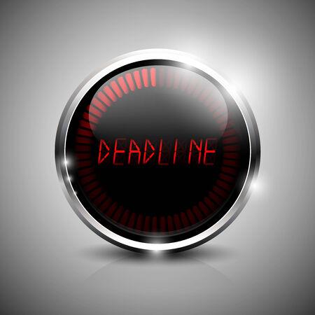 Deadline indicator. Deadline electronic clock