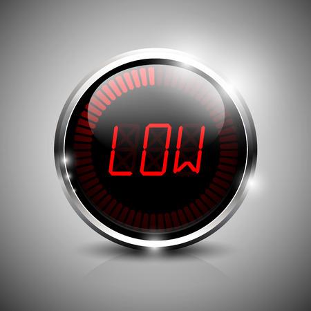 Low electronic indicator Illustration