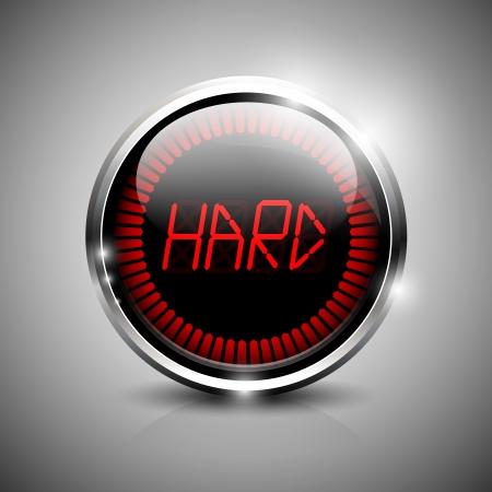 hard: Hard electronic indicator Illustration