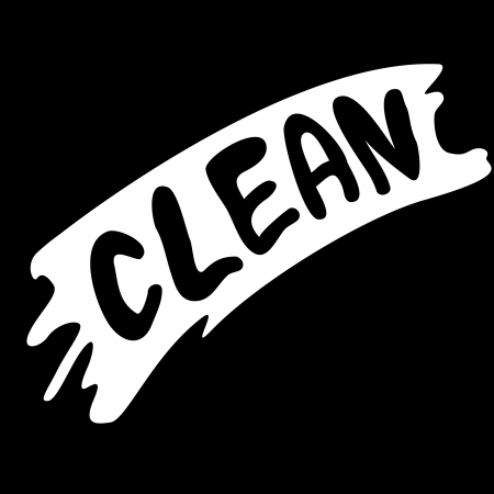 wiped with clean Illustration