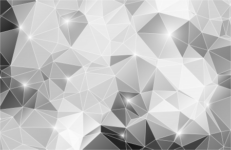 Black and white abstract background shiny polygon Illustration
