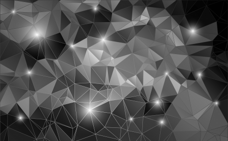 Black and white abstract background shiny polygon Imagens - 25326631