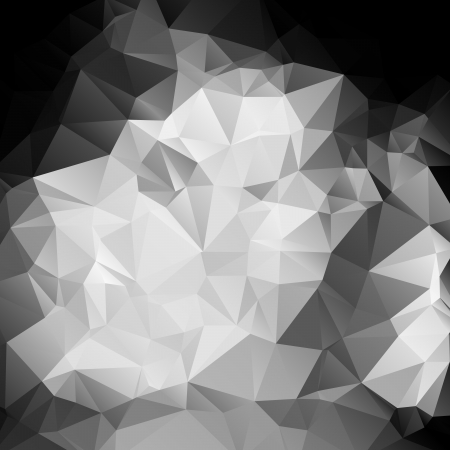 splinters: Black and white abstract background polygon Illustration