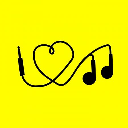 I love music. headphones Vector