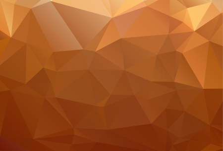 Yellow orange brown abstract background polygon