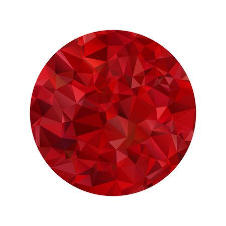 Red polygonal sphere Vector