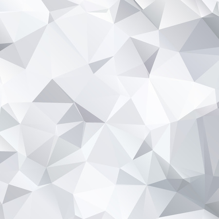Abstract black and white background of polygonal Ilustração