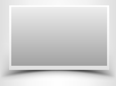 Empty gray photo frame with shadow Imagens - 25867163