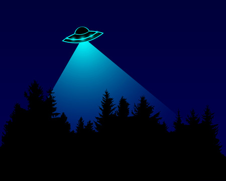 UFO over the forest Stock Vector - 25867173