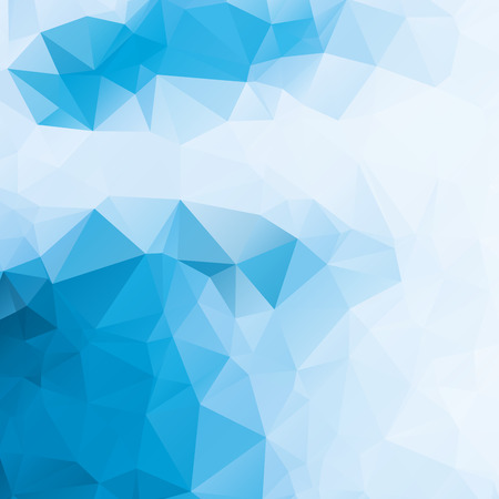 Cool blue and white abstract background polygon Illustration