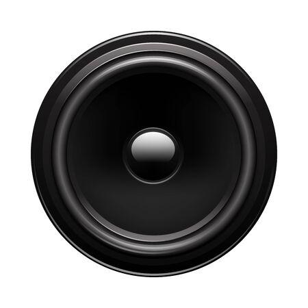 Vector illustration of audio speaker isolated on white background