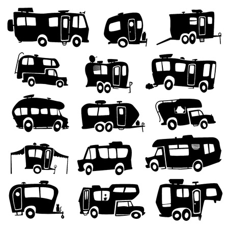 motor home: Recreational Vehicles Icons