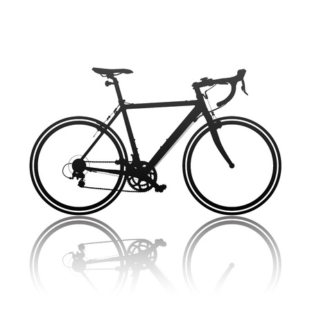 Silhouette of sports bicycle