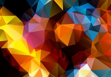 contraste: Contraste brillante abstracto tri�ngulo fondo multicolor pol�gono