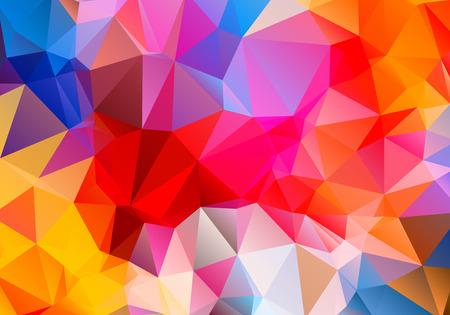 contraste: Contraste abstracto brillante tri�ngulo fondo multicolor pol�gono Vectores