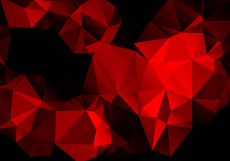 contrast: Bright contrast abstract red black background polygon