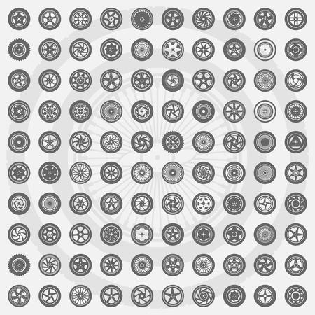 felgen: Auto-Rad eingestellt. Felgen Symbole