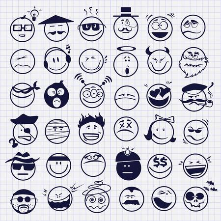 set of emoticons