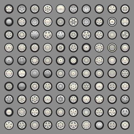 felgen: Radsatz und Felgen Illustration