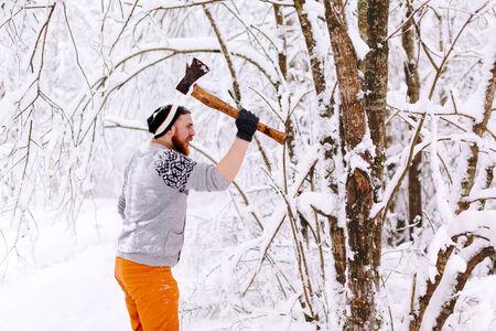 ax: Lumberjack ax swings