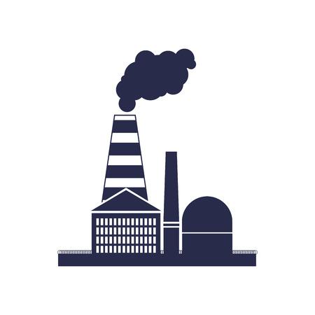 toxic cloud: fuming factory