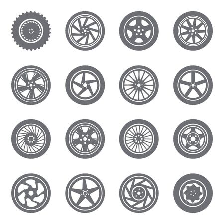 Set of wheel rims Imagens - 36843001