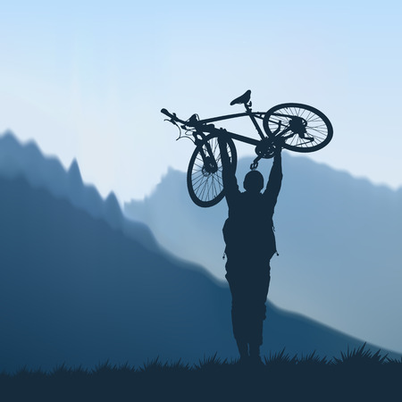 Cyclist in the mountains Imagens - 36842498