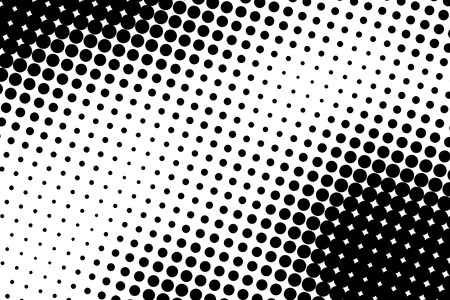 Halftone dots. Black and white dot background. Black dots on white background.