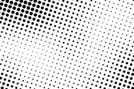 Halftone dots. Black and white dot background. Black dots on white background.