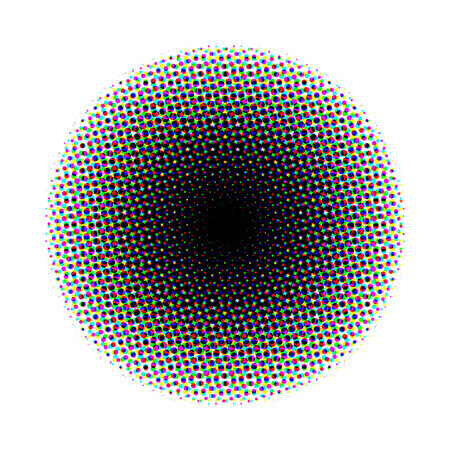 halftone: halftone circle Stock Photo