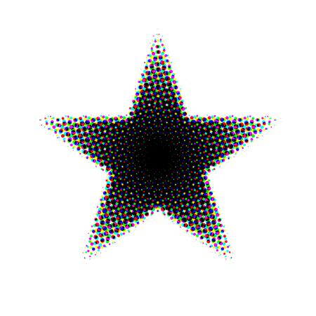 halftone: halftone star