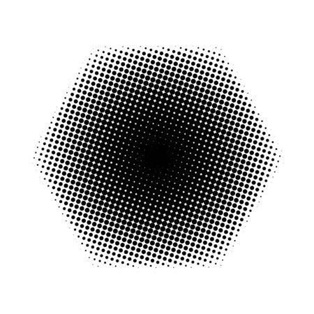 halftone: halftone hexagon