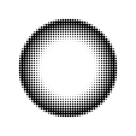 halftone: halftone circle Stock Photo