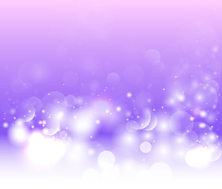 Purple background with bokeh and glow. Abstract winter background.