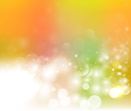 Magic light vector background. Colorful background with defocused lights