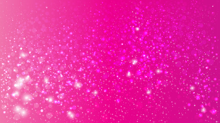 pink: Magic glow and bokeh on a pink