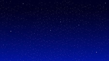 青色の背景には星です。星の空