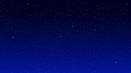 starry: Stars on a blue background. Star Sky Illustration