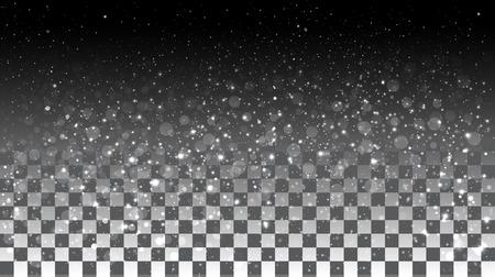 Dalende sneeuw op een transparante achtergrond. Vector special effecten op een transparante achtergrond Stock Illustratie