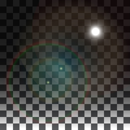 special effects: Vector lens flare on a transparent background. Vector special effects on a transparent background