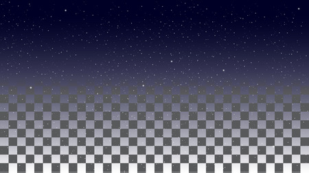 special effects: Star Sky on a transparent background. Vector special effects on a transparent background